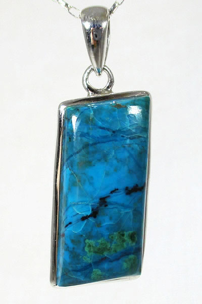 Chrysocolla silver pendant crystals online mozeypictures Images