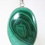 Malachite Silver Pendant (large)