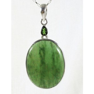 Jade and Green Tourmaline Pendant