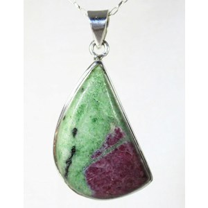 Ruby in Zoisite Silver Pendant