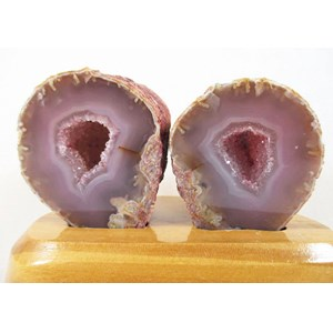 Pale Pink Agate Standing Pair