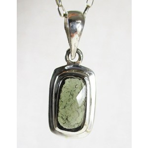 Faceted Moldavite Lightweight Pendant (small)