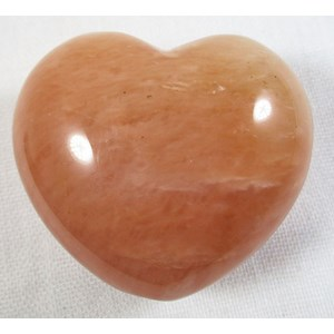 Peach Aventurine Heart