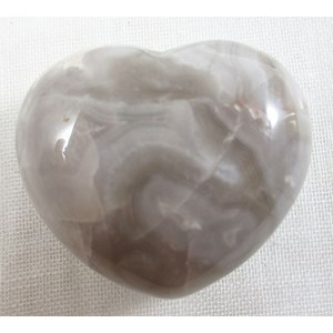 Grey Agate Heart