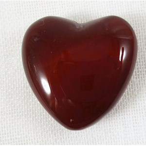 Deep Red Carnelian Heart (small)