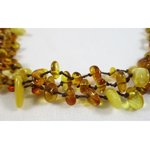 Triple String Amber Necklace (small)