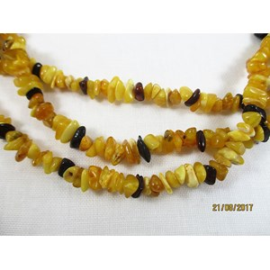 Amber Striped Necklace (X Long)