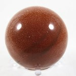 Red Goldstone Sphere