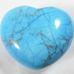 Turquoise Howlite Heart