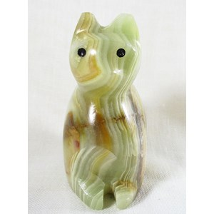Banded Onyx Sitting Cat