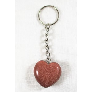 Goldstone Heart Key Ring