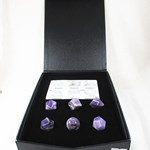 Chevron Amethyst Platonic Solids Set