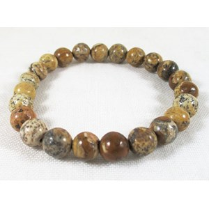 Picture Jasper Power Bead Bracelet