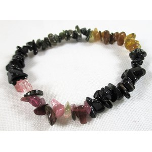 Watermelon Tourmaline Chip Bracelet (s/m)