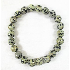 Dalmation Jasper Power Bead Bracelet