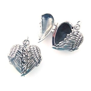 Angel Wing Silver Locket