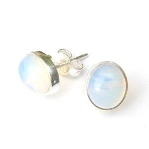 Opalite Oval Stud Earrings