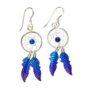 Blue / Purple Dreamcatcher Earrings