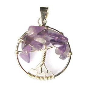 Amethyst Tree of Life Pendant (smallish)