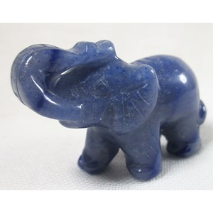Blue Quartz Elephant