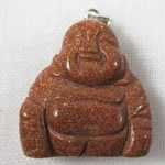 Red Goldstone Buddha Pendant