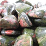 Unakite Tumbled Chips X 3