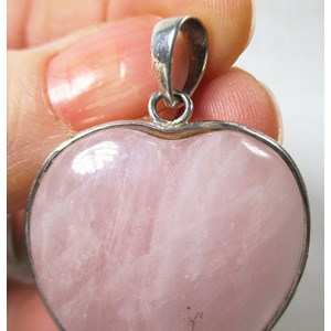 Rose Quartz Heart Pendant
