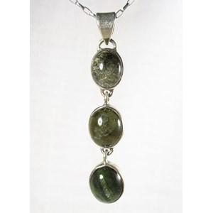 Triple Green Tourmaline Pendant
