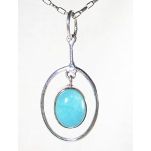 Amazonite Hoop Pendant (smallish)