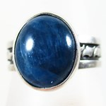 Blue Apatite Ring (size R)