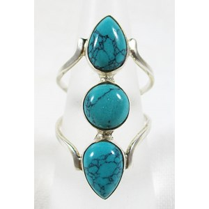 Triple Turquoise Ring (size O)
