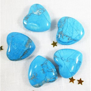 Turquoise Howlite Heart B Grade REDUCED (Small x1)
