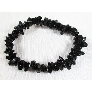 Black Tourmaline Chip Bracelet