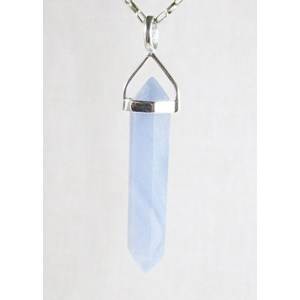 Blue Lace Agate Point Pendant