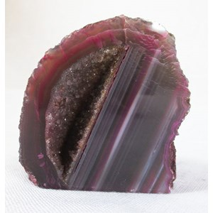 Pink and Grey Agate Standing Geode (Small)