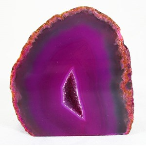 Pink Agate Standing Geode