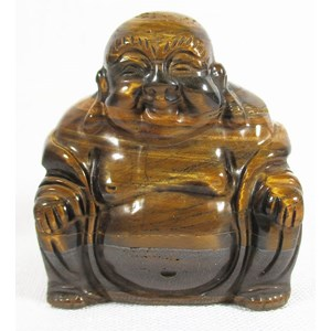 Tigers Eye Laughing Buddha