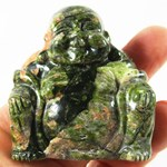 Unakite Happiness Buddha