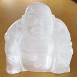 Selenite Happiness Buddha