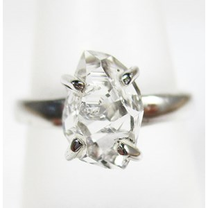 Herkimer Diamond Ring (Size L)