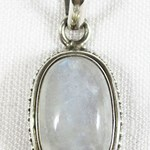 Rainbow Moonstone Indian Pendant