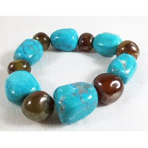 Howlite and Agate Bracelet
