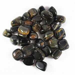 Blue Tigers Eye Tumble Stones (C Grade x3) Reduced