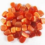 Orange Cats Eye Tumble Stones (x3)