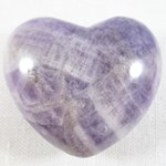 Chevron Amethyst Heart