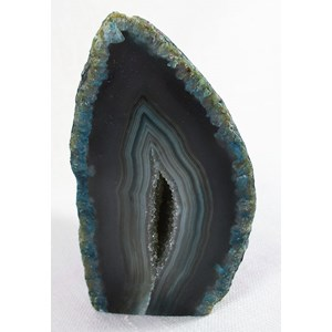 Grey/Green Agate Standing Geode (Small)