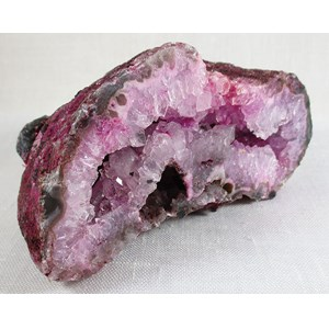 Pink Agate Flat Geode
