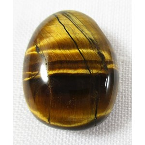 Tigers Eye Drilled Pebble Pendant