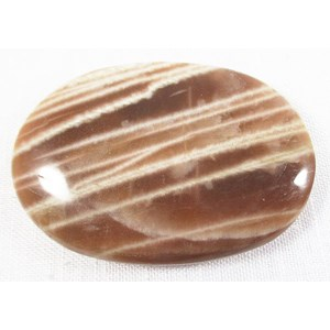 Shaded Moonstone Palm Stone