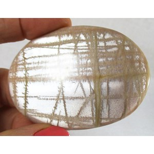Shimmering Shaded Moonstone Palm Stone
